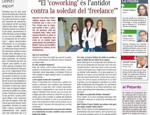 El coworking de Com360 i SU Arquitectura, a la contraportada del diari La Mañana de Lleida